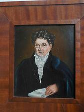 Daniel O'Connell Irish Statesman Oil On Board 1830-40s The Liberator Emancipator