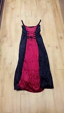 Velvet Dress / Red in the middle / Sleeveless / Gothic - 943