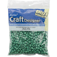 Darice Pony Beads Opaque Green 6mm X 9mm