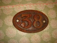 genuine antique vintage cast iron door house train number cottage no 38