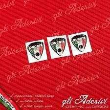 3 Adesivi Resinati Sticker 3D Ducati CorseOld Tricolore Italia 20 mm