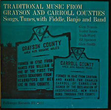 TRADITIONAL MUSIC FROM GRAYSON AND CARROLL COUNTIES-NM1962LP FOLKWAYS w/ INSERT