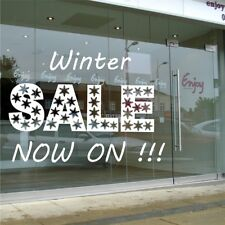 Winter Sale Shop Window Stickers Merry Christmas Wall  Decoration Now on