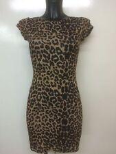 WOMENS CAP SLEEVES PRINTED TUNIC LONG TOP BODYCON MINI DRESS SIZE 8-22