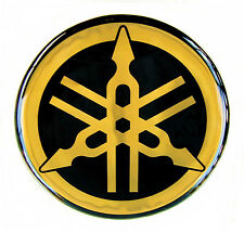 ORIGINAL Yamaha 45cm EMBLEM Gold Aufkleber Emblema Decal