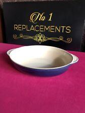 "Denby Classic Blue Harlequin & Cream Oval Roasting Serving Vegetable Dish 13"""