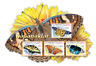 Azerbaijan Butterflies Stamps 2017 MNH Swallowtail Butterfly Insects 4v M/S