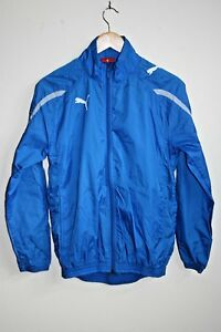 Puma Windstoper Jacket Blue Tracksuit Boy's Sport Full Suit Polyester Track Y XL