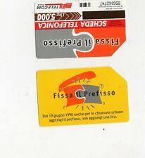 ssheda telefonica - fissa il prefisso - 1998