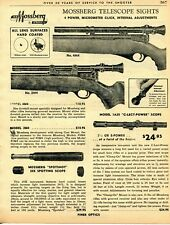 1962 Print Ad of Mossberg Telescope Sights 4M4 2M4 1A25 Rifle Scope & Spotshot