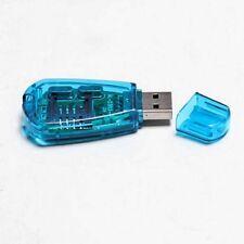 1x USB 2.0 Standard SIM Card Reader Copy Cloner Writer SMS Backup GSM CDMA + CD