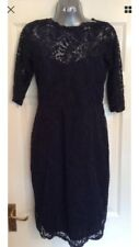 BNWT Gorgeous NEXT Navy Bardot Lace Wiggle  Dress Size 14