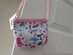 LITTLE GIRLS MERMAID OVER SHOULDER SMALL BAG/COIN PURSE-  BRAND NEWS WITH TAGS