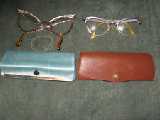 Vintage Alum Cat Eye Glasses and Cases