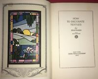 How to decorate textiles by Zelda Branch 1927 Vintage 1920s Textile ART REF book