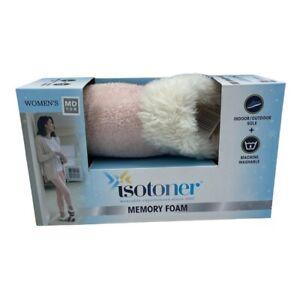 Isotoner Slippers Faux Fur Pk/Color Memory Foam Indoor/Outdoor Women's M 7.5-8