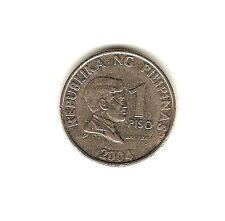 2004 PHILIPPINES Coin 1 Piso