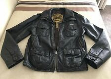 Mens Gorgeous Brown Distressed Leather SUPERDRY Jacket Sz Large.