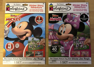 Mickey Minnie Disney Character Colorforms Set Lot Ages 3+ Play Enhance Learning