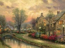 Thomas Kinkade framed S/N LAMPLIGHT LANE  18 x 24 Canvas