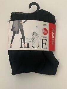 Hue Brushed Seamless Leggings, Black, L/XL