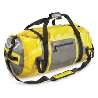 New Guide Gear Waterproof Dry Duffel Bag Yellow And Green 40 and 65 Liters