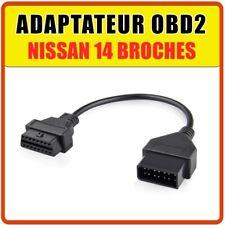Prise OBD2 Nissan 14 broches - Diagnostic auto - Compatible Multidiag
