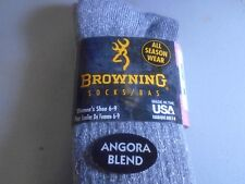 Womens Browning Hosiery Angora Wool  Sock, SIZE Medium 6 - 9