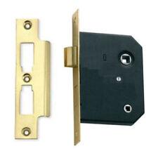 """Bathroom Mortice Door Lock 76mm (3"""") Brass Toilet Bathrooms Locks for WC Doors"""