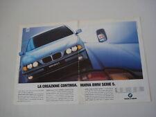 advertising Pubblicità 1996 BMW SERIE 5