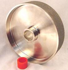"BUTW 100 grit 8"" x  1 1/2"" wide diamond lapidary grinding wheel"