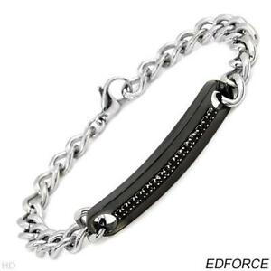 EDFORCE Bracelet With Genuine Crystals Made in Stainless Steel