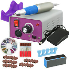 Profession Manicure Pedicure Electric Drill File Nail Art Pen Machine Kit Set