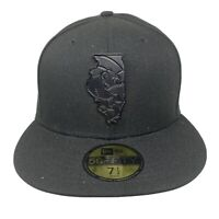 New Era MLB 59Fifty CHICAGO WHITE SOX Gilded Logo 5950 Fitted Hat 7 1/2