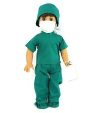 Doctor Medical Scrubs for 18 inch Doll Clothes 4pc American Girl or Boy