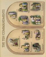 """Catholic print picture  -  TEN COMMANDMENTS  -   8"""" x 10"""" ready to be framed"""