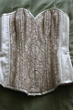 Bettie Page Inspired Secrets in Lace Ivory and Lace Corset-Size 24-New with Tags