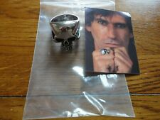 Keith Richards Skull Ring Steel size 15 pre owned