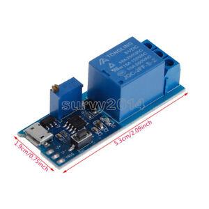 2PCS 5-30V Micro USB Power Delay Relay Timer control module Trigger delay Switch