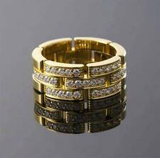 CARTIER 18K YG PANTHERE  MAILLON  DIAMOND  RING   , $7850