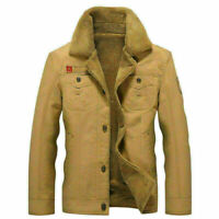 Tops Men's Military Long sleeve Thicken Coat Jacket Casual Overcoat Long Outwear