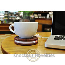 Hot Cookie USB Cup Warmer Desk Office Mug Heat Dink Heater Heating Coffee Plug