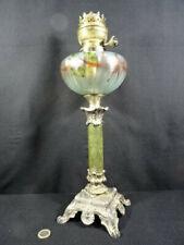 ancienne lampe à pétrole réservoir décor peint