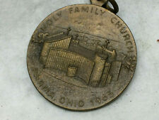 Vintage 1965 Religious Medal Parma Ohio Holy Family Church Protect Us Germany