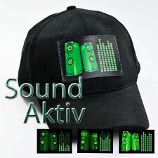 LED PARTY BASE CAP MÜTZE DJ DISCO Soundsensitve Partycap Basecap Equalizer #C03