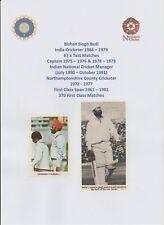 BISHAN BEDI INDIAN CRICKETER 1966-1979 ORIGINAL AUTOGRAPH MAGAZINE CUTTING