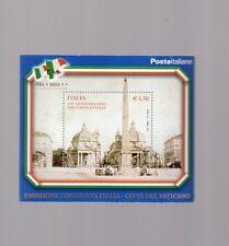 foglietto francobollo italia 150°anniversario dell'unita' d italia - 2011