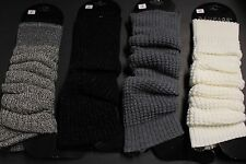 RAMPAGE WOMEN'S LEG WARMER'S BLACKS WHITE GRAY SOFT  STRETCH FASHION SOLID18INCH