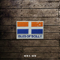 ISLES OF SCILLY Flag With Name Embroidered Iron On Sew On Patch Badge