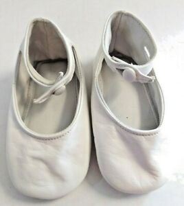 Vintage Rudin Needlecraft White Made In Italy Sz. 3 Girl Booties